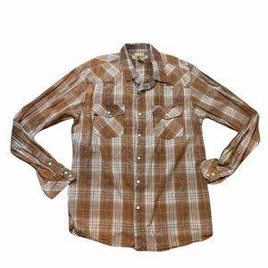 BKE Pearl Snap Button Up Shirt Contour Fit Men's